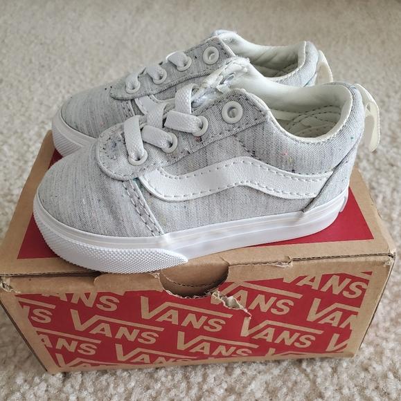 Vans Shoes | Grey Slip On Sneakers Size
